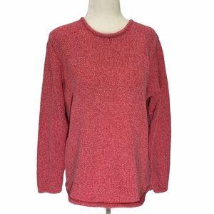 L.L. Bean 100% Cotton Crew Neck Sweater L